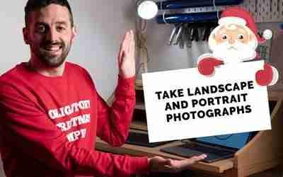 Take landscape and portrait photographs